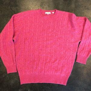 PETER MILLAR cashmere sweater XL in pink